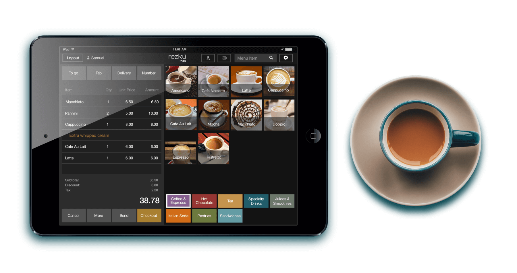 iPad POS with order screen