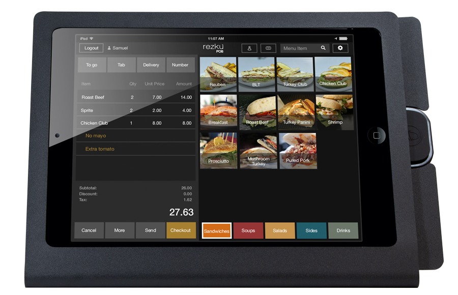 Deli POS System order screen