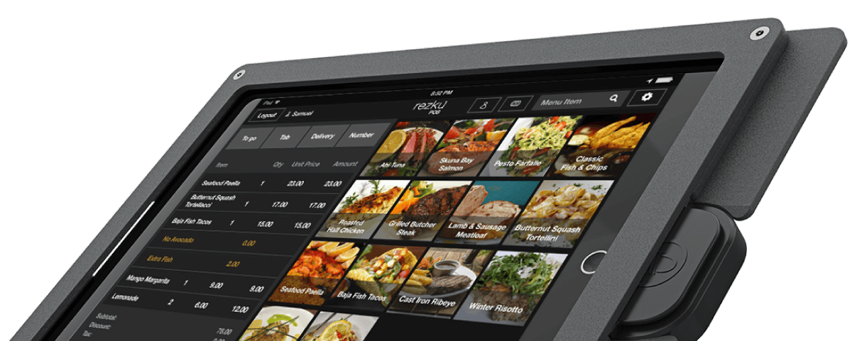 Full Service POS order screen display