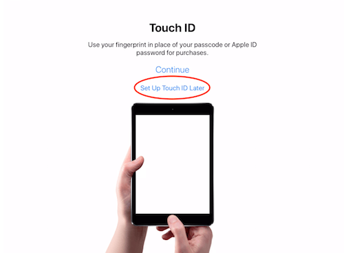 Touch ID instructions