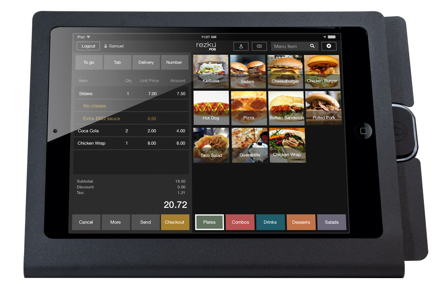 Rezku Buffet POS with order screen