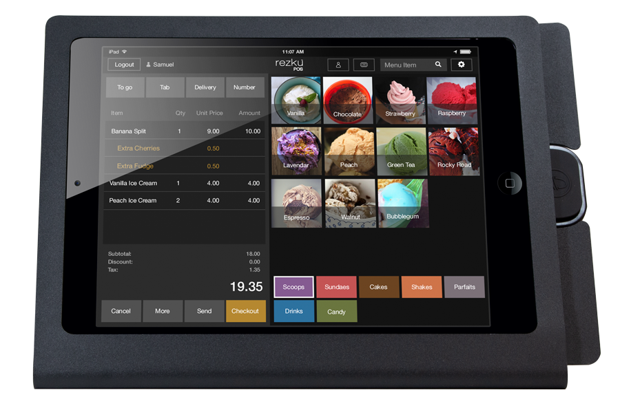 Rezku Ice Cream Parlor POS with Order Screen