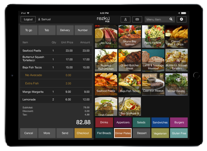 We'll build and organize your menu