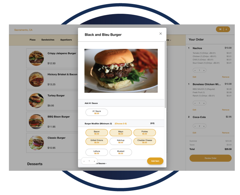 Rezku POS includes online ordering and delivery