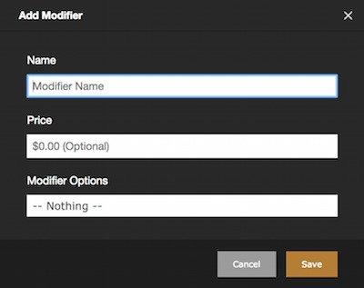 new modifier form
