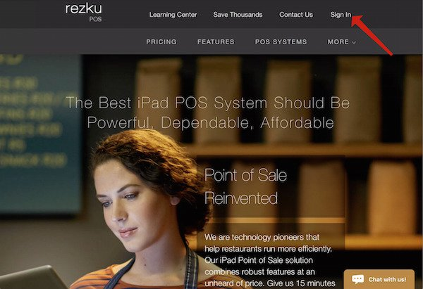 rezku pos backoffice sign in link