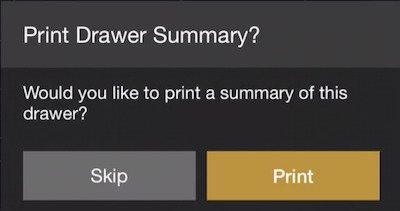 print drawer summary
