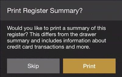 print register summary