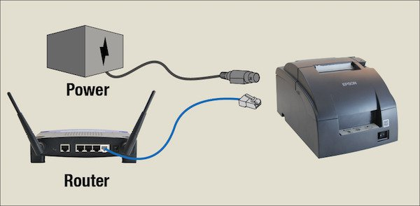 plug the router into your printer