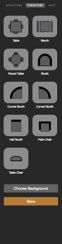 floor plan furniture objects
