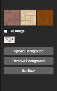 floor plan background default options