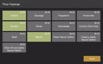 isolated pizza toppings screen