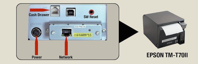 EPSON TM-T70II ports