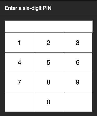 rezku pos user PIN form
