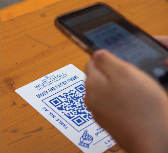 Get personal with QR table codes